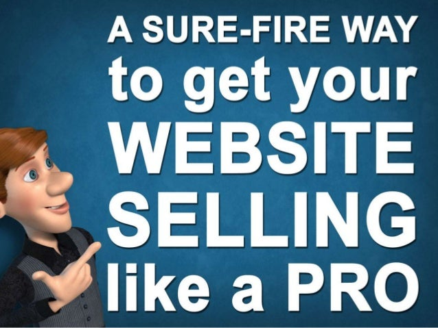 A sure-fire way to get your website selling like a pro Brought to you by WAKSTER