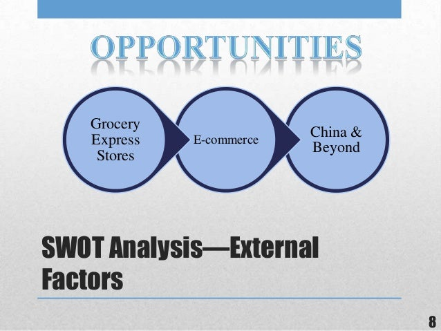 walmart external factors The internal/external factors of management wal-mart stores, inc in today's world management must consider a wide variety of factors in order t.