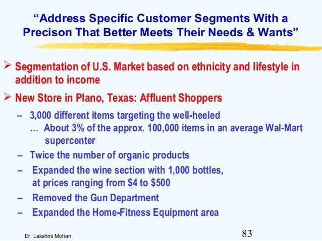 wal mart s market segmentation Buy market segmentation success: making it happen at walmartcom.