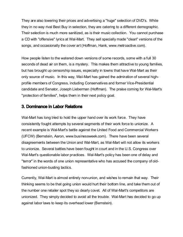 wal mart case study 1 Case study 1: walmart manages ethics and compliance challenges read case study 3: walmart manages ethics and compliance challenges, located on page 407.