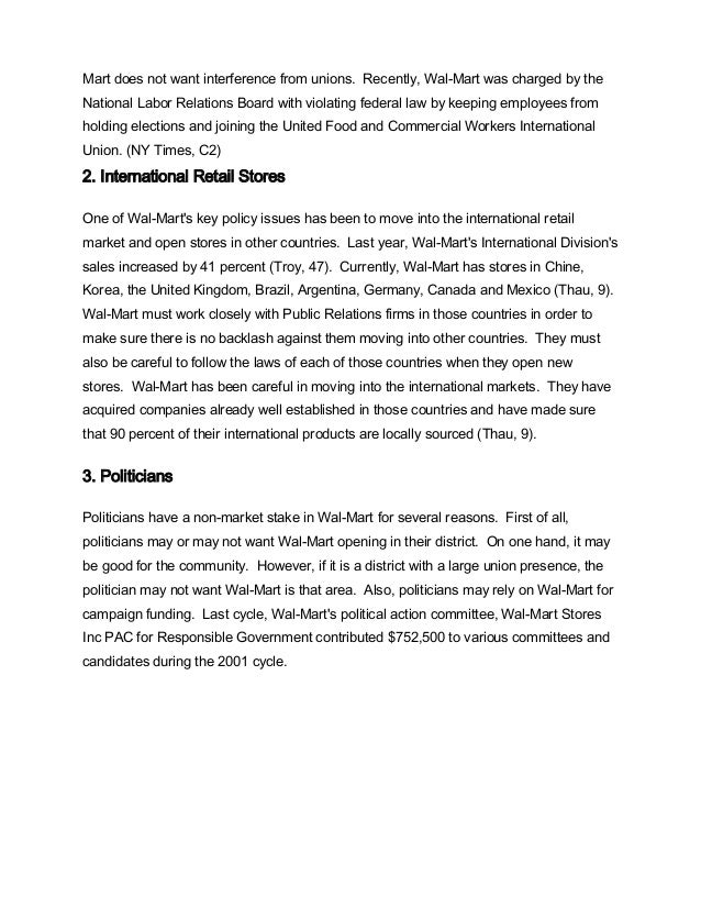 wal mart case study 1 Wal-mart case study - free download as powerpoint presentation (ppt), pdf file (pdf), text file (txt) or view presentation slides online.