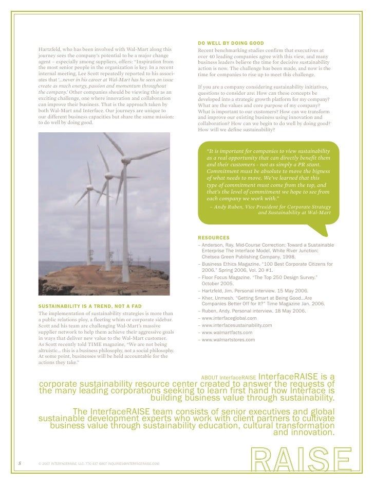 InterfaceRAISE: Sustainability Consulting Harvard Case Solution & Analysis