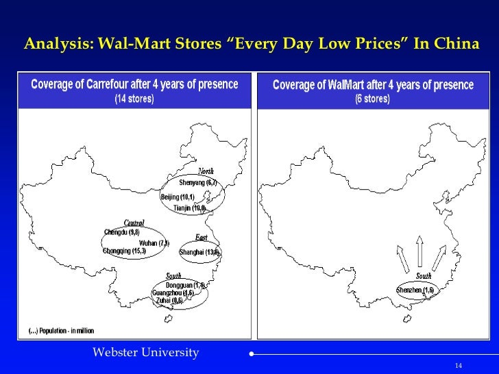 walmart case study china The story arkansas's sam walton founded walmart in 1962, based on the idea of bringing big-city discounting to his corner of the rural american south.