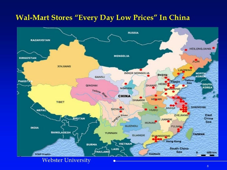 Case Study WalMart Stores Every Day Low Prices In China - Map of walmart locations in us