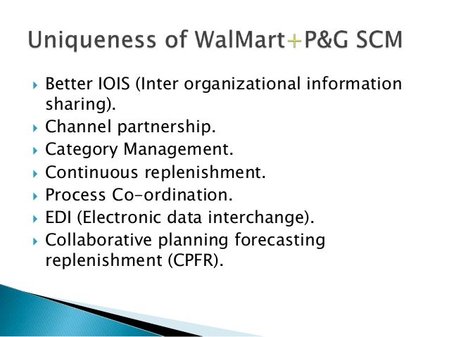 p g continuous replenishment Supply-chain partnership between p&g for example, the continuous replenishment system built for both walmart and p&g facilitates the replenishment of p&g.