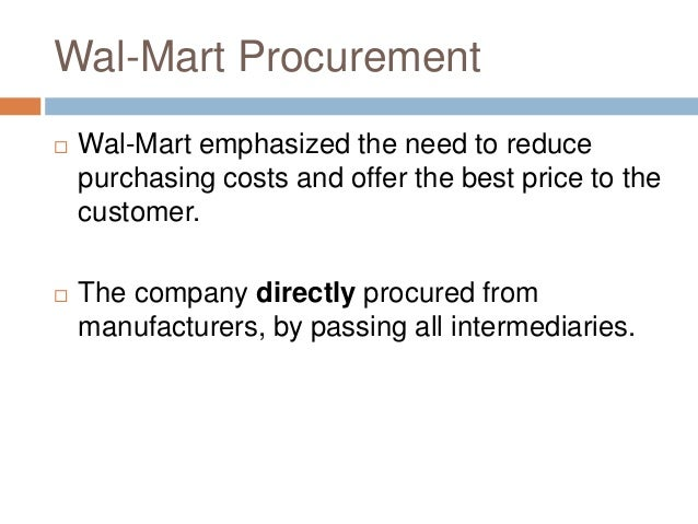 wal marts supply chain Wal-mart is also using big data to help it better manage the supply chain the retailer said it is using simulations to track the number of steps from the dock to the store this allows wal-mart to optimize routes to the shipping dock and track the number of times a product gets touched along the way to the end.