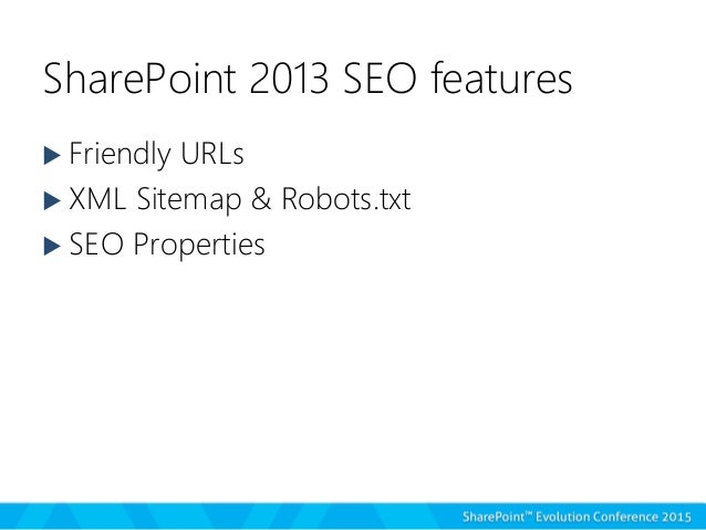 optimizing sharepoint 2013 public facing websites for internet search