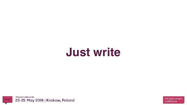 Wojciech Aleksander Just write