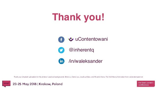 Thank you! @inherentq uContentowani /in/waleksander Thank you Unsplash uploaders for the photos I used as backgrounds: Bir...