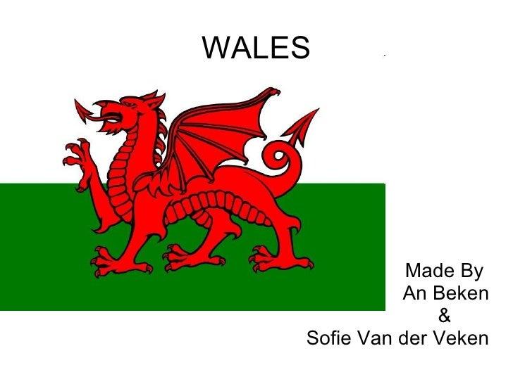 WALES Made By  An Beken &  Sofie Van der Veken