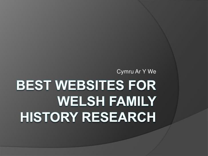 Best Websites for Welsh Family History Research<br />CymruAr Y We<br />