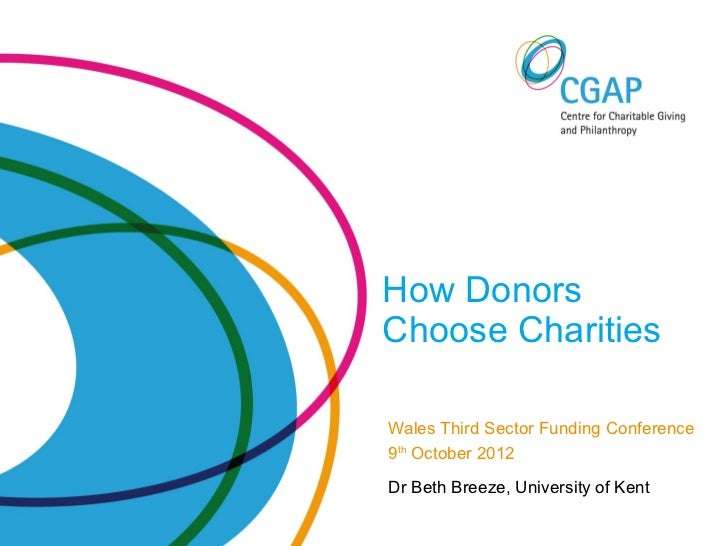 How DonorsChoose CharitiesWales Third Sector Funding Conference9th October 2012Dr Beth Breeze, University of Kent