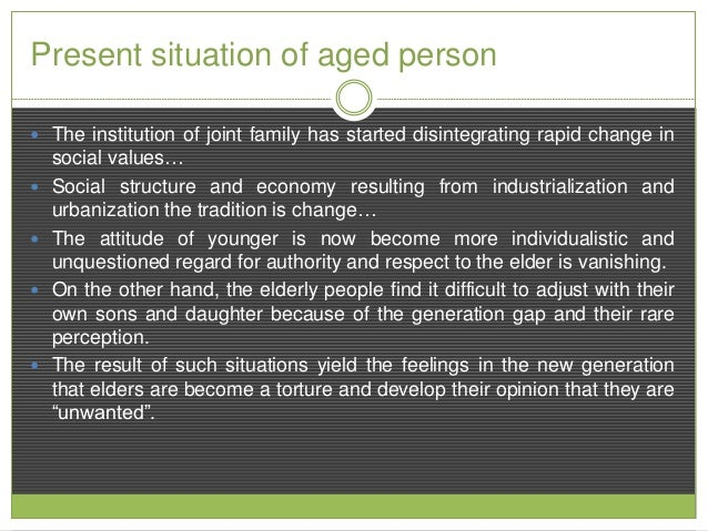 Family disintegration: the family as fading focal point