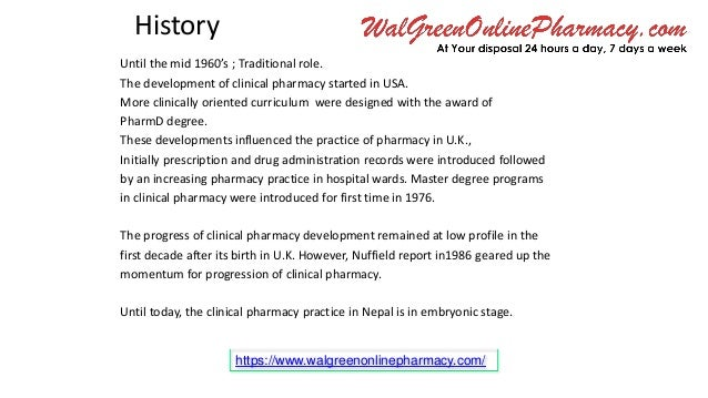 Walgreen Online Pharmacy