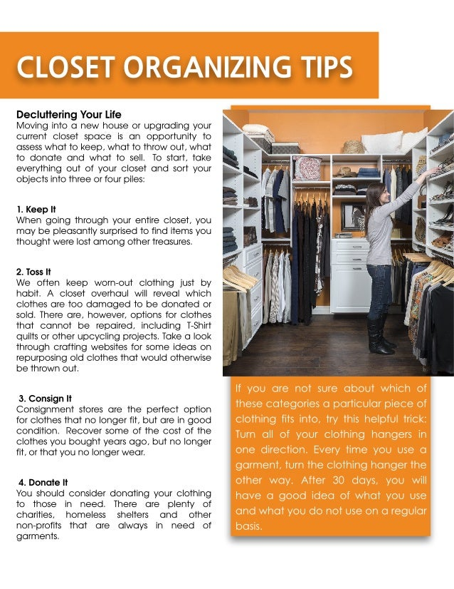 CLOSET ORGANIZING TIPS Decluttering Your Life Moving ...