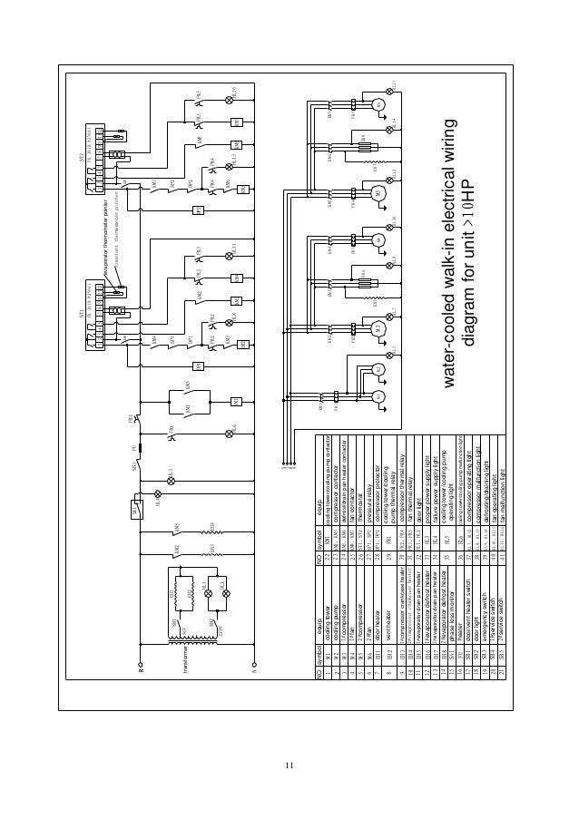 ... Room Plant Planning Drawing Of The Refrigerated Cold Storage Warehouse.  10; 11.
