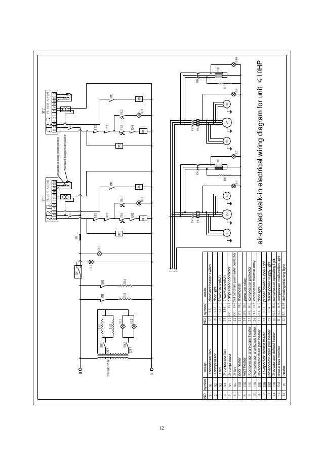 cold room electrical wiring diagram