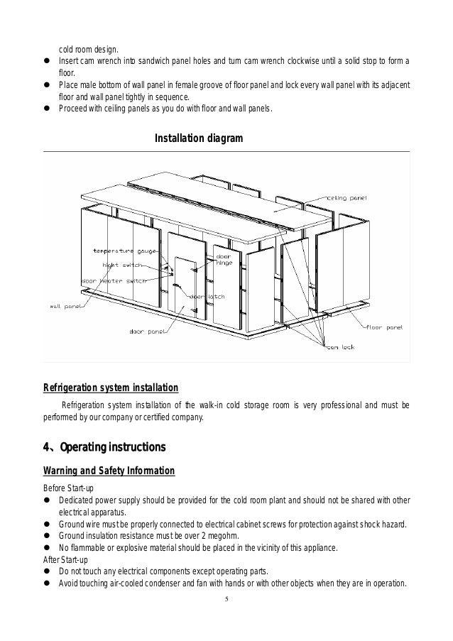 ... 5. cold room design.  sc 1 st  SlideShare & Walk in cooler u0026 freezer cold room plant u0026 refrigerated cold storage u2026
