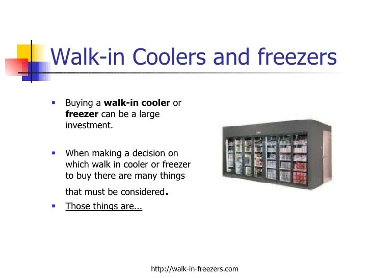 Coolers That You Can Freeze ~ Walk in coolers and freezers