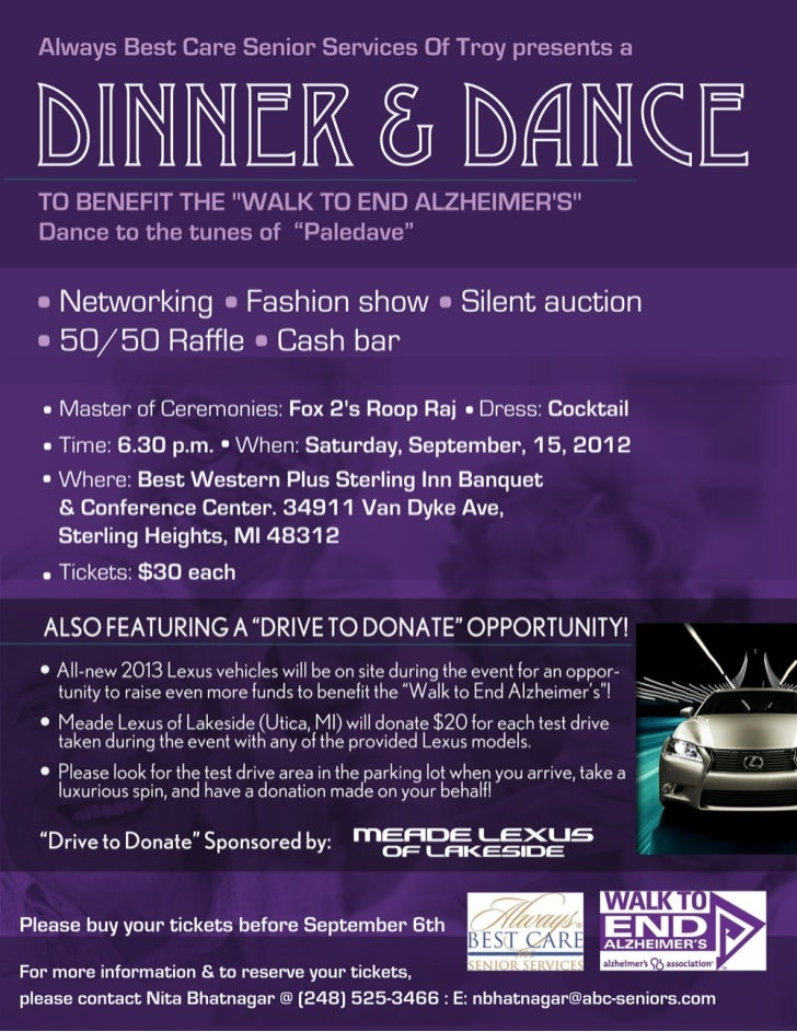 Meade Lexus of Lakeside Sponsors Drive to End Alzheimer's