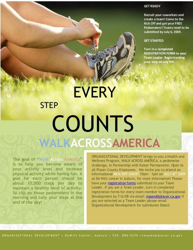 walk across america 2009 informational flyer