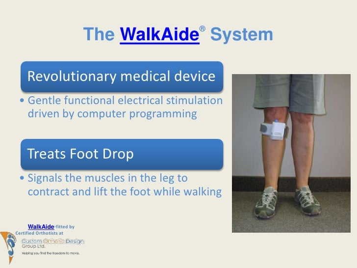 Walkaide Breakthrough Treatment For Foot Drop