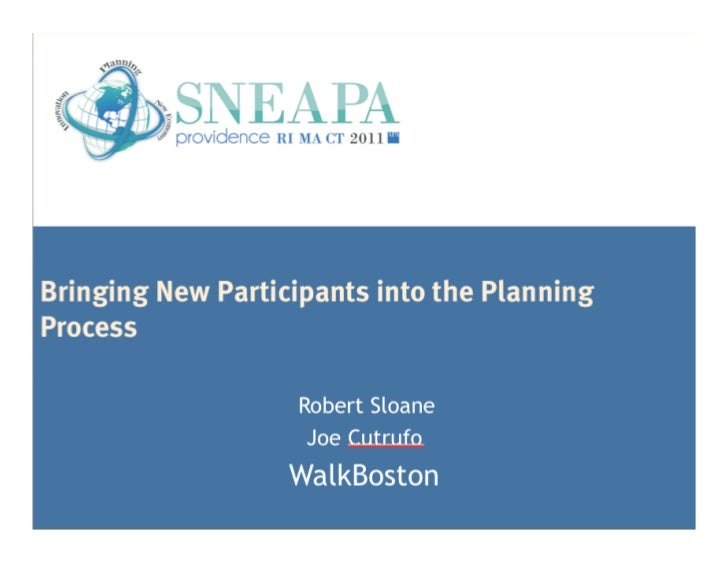 Bringing New Participantsinto the Planning ProcessResearch sponsored by the Federal Transit AdministrationOffice of Resear...