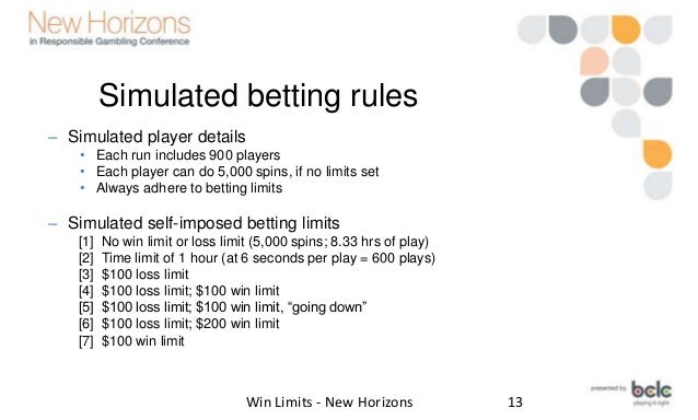 Gambling loss limit wisconsin reservation gambling