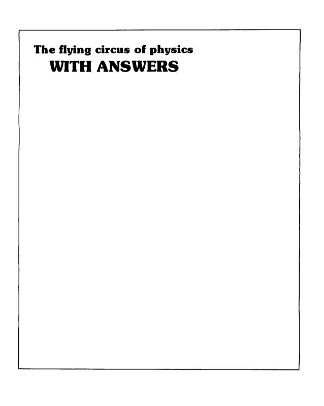 Walker the flying circus of physics with answers wiley 1977 the flying circus of physics iith answers fandeluxe Gallery