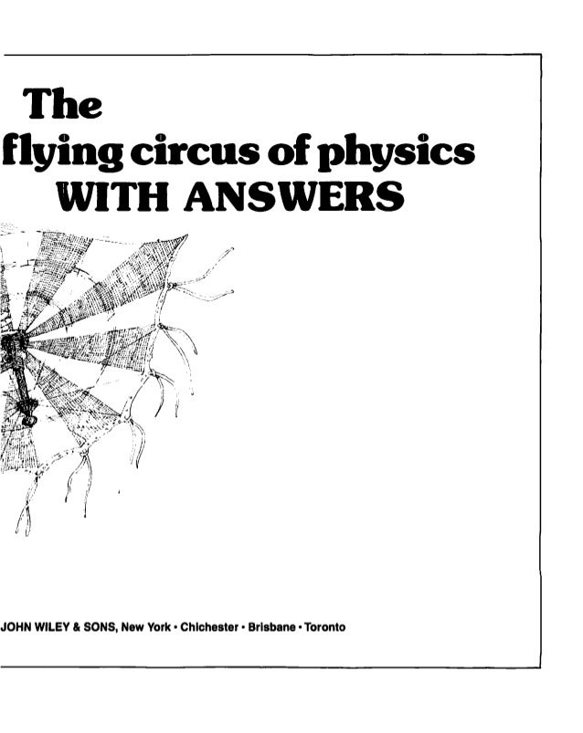 Walker the flying circus of physics with answers wiley 1977 5 fandeluxe Gallery