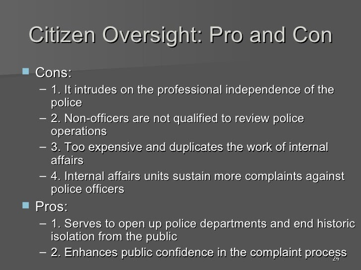 Being a police officer pros and cons