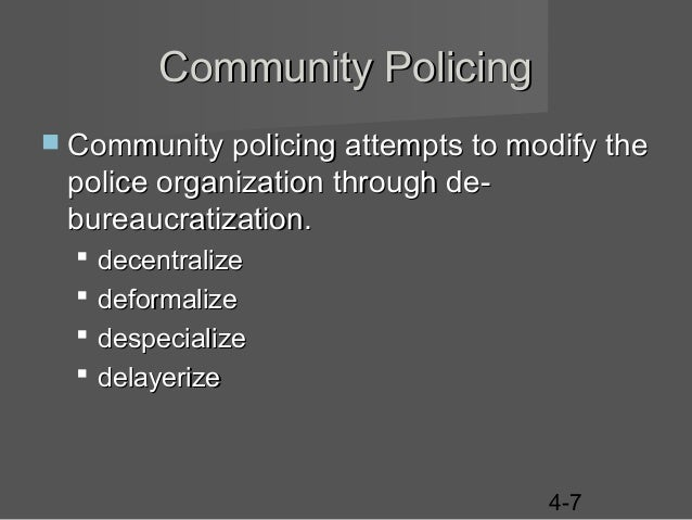 ch 4 policing purpose organization The anticipation, recognition, and appraisal of a crime risk and the initiation of action to eliminate or reduce it.