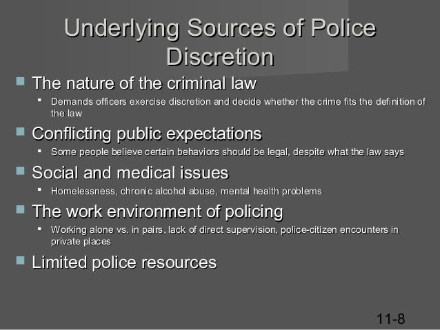 discretion essay Police discretion police discretion police officers encounter daily situations that require police discretion some situations have not even been thought.