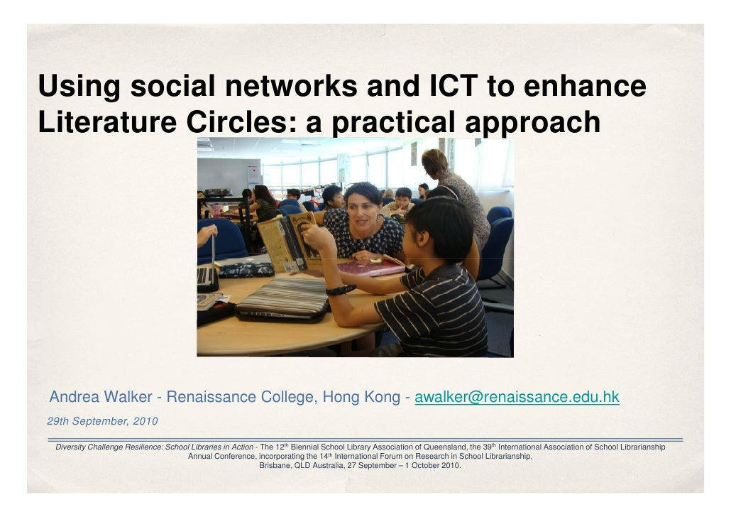 Using social networks and ICT to enhance Literature Circles