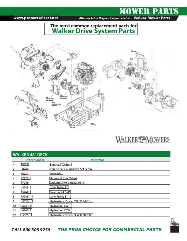 Walker Mower Drive System Parts