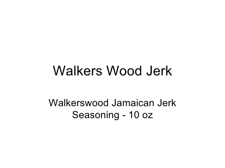 Walkers Wood Jerk Walkerswood Jamaican Jerk Seasoning - 10 oz