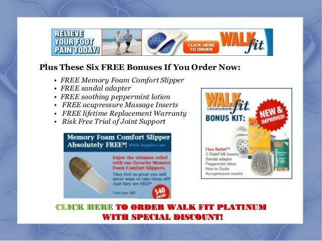 Walk Fit Platinum Orthotic Insoles As Seen On Tv