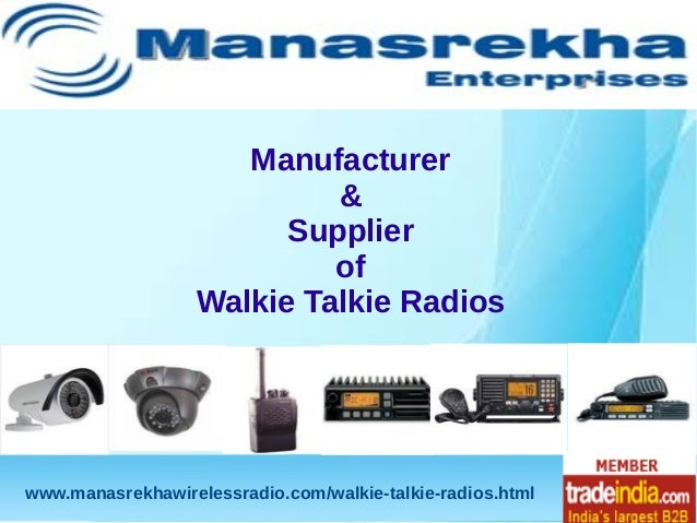 Transceiver Walkie Talkie Radios,Manufacturer,Supplier,Mumbai