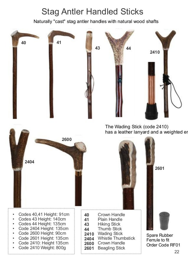Walking Sticks Online Catalouge