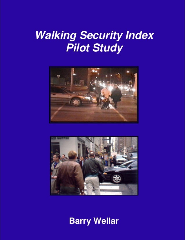 Walking Security Index  Pilot Study  Barry Wellar