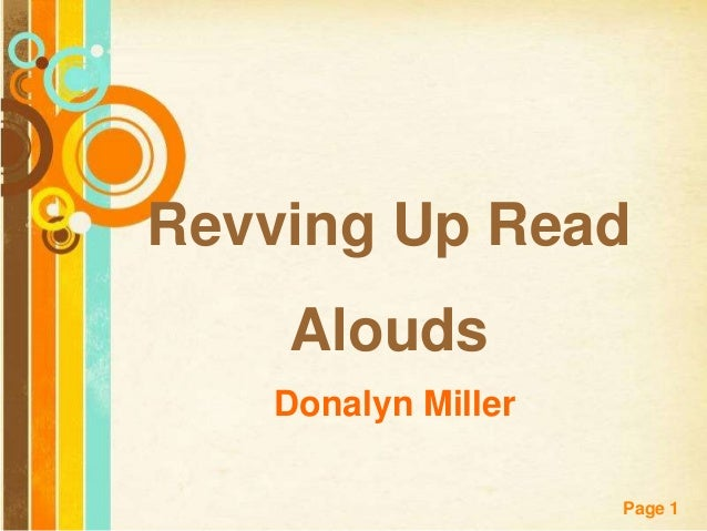 Revving Up Read    Alouds   Donalyn Miller                    Page 1