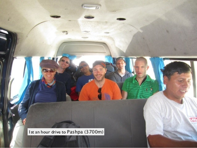 1st an hour drive to Pashpa (3700m)