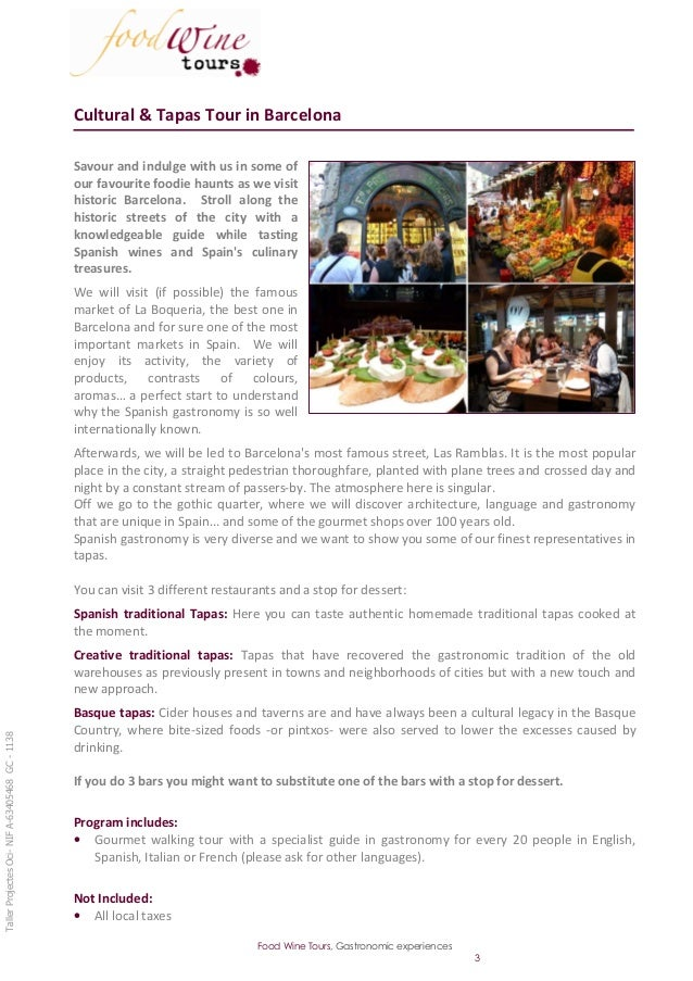 Cultural & Tapas Tour in Barcelona                                                 Savour and indulge with us in some of  ...