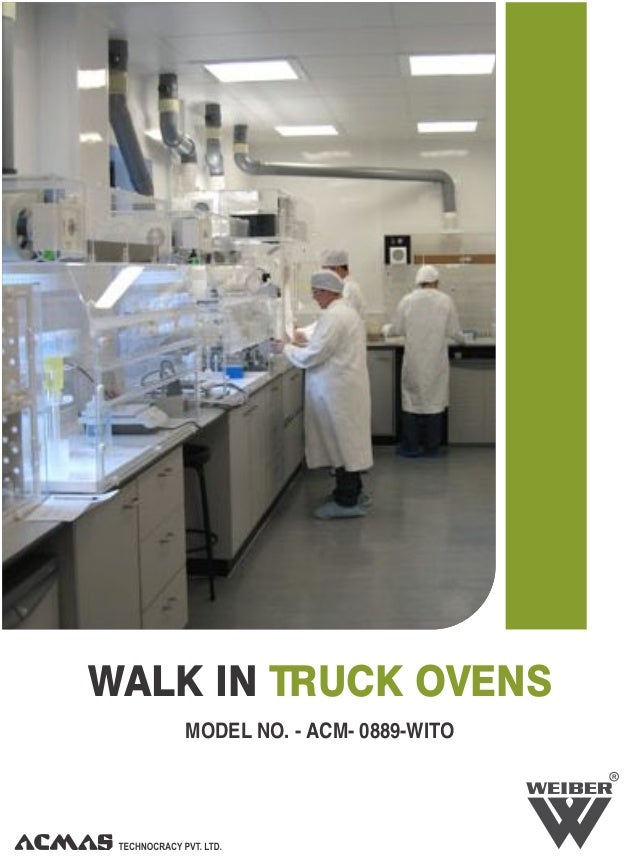 R WALK IN TRUCK OVENS MODEL NO. - ACM- 0889-WITO