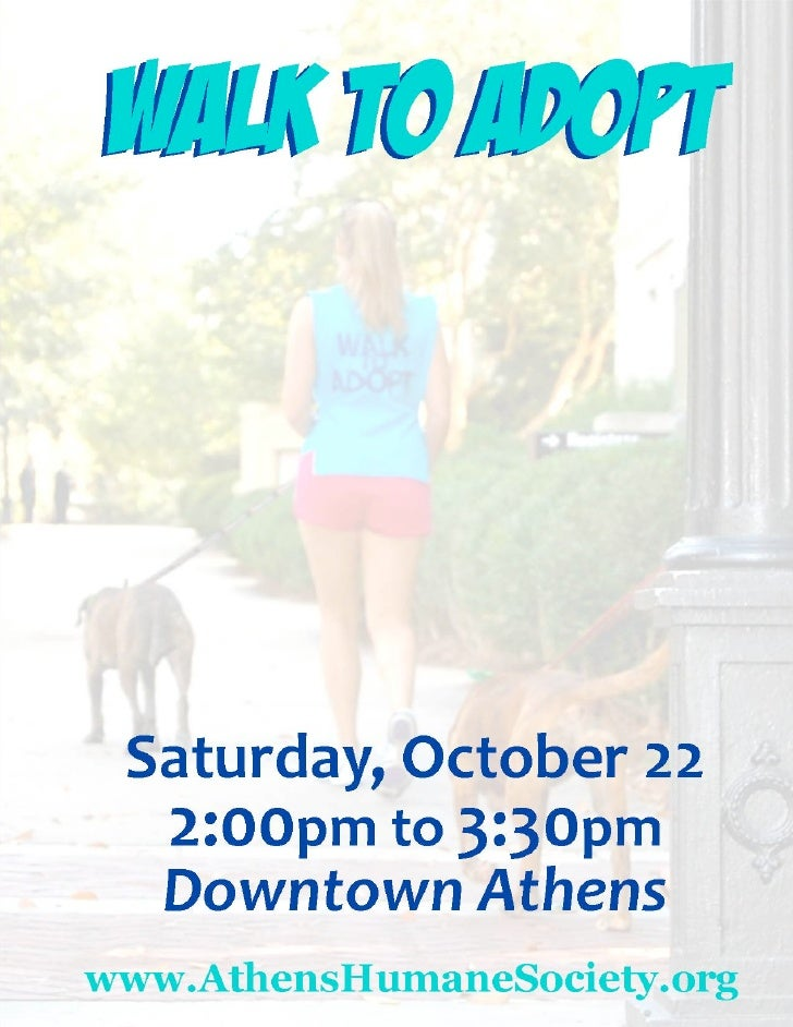 Walk to adopt flyer