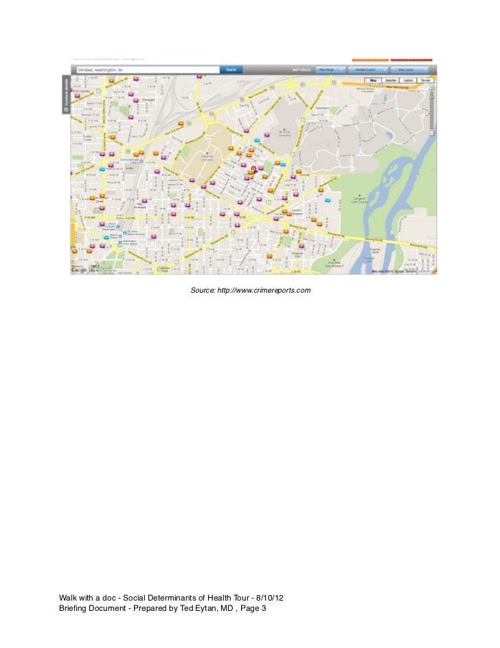 Source: http://www.crimereports.comWalk with a doc - Social Determinants of Health Tour - 8/10/12Briefing Document - Prepar...
