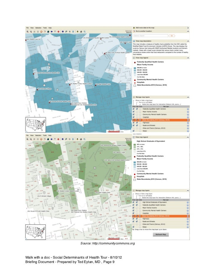 Source: http://communitycommons.orgWalk with a doc - Social Determinants of Health Tour - 8/10/12Briefing Document - Prepar...