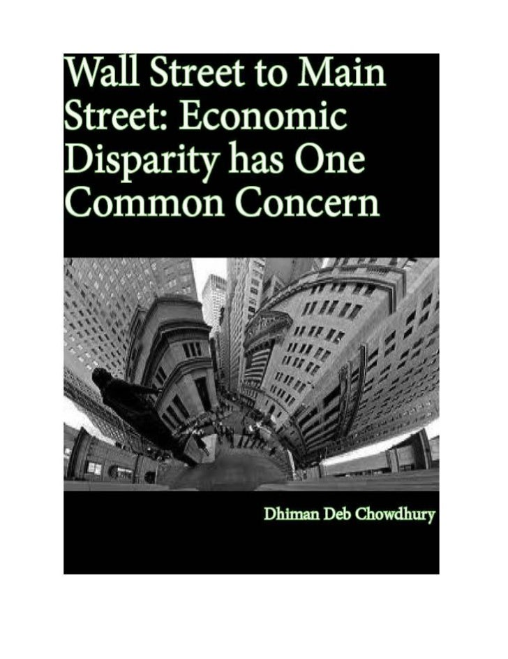 Wall Street to Main Street: Economic Disparity has One Common                                   Concern                   ...