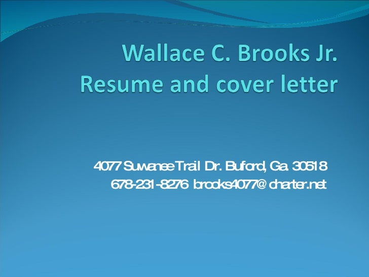 4077 Suwanee Trail Dr. Buford, Ga. 30518 678-231-8276  [email_address]