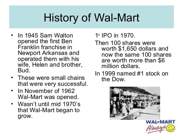 "an analysis of the success of wal mart by sam walton Walmart's success has put many companies out of business  –sam walton ("" what we do"") walmart was founded on the belief stated above by its founder  walmart swot analysis company overview wal-mart stores (wal-mart or  the."